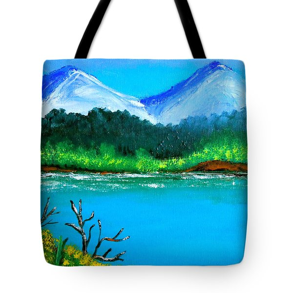 Hills By The Lake Tote Bag