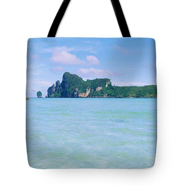 Hills In The Ocean, Loh Dalum Bay, Ko Tote Bag