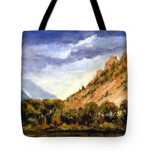 Hills Of Jackson Wyoming Tote Bag