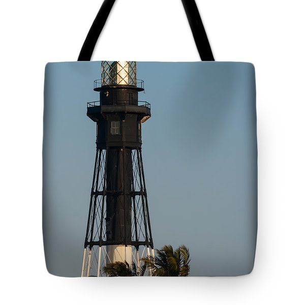 Hillsboro Inlet Lighthouse In The Evening Tote Bag