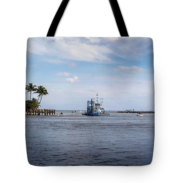 Hillsboro Inlet Lighthouse Panorama Tote Bag