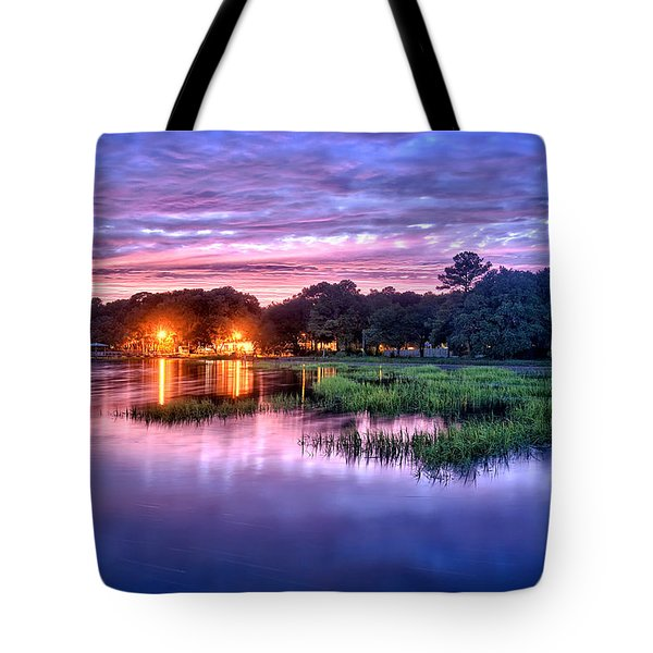 Hilton Head Evening Marsh Tote Bag by Renee Sullivan