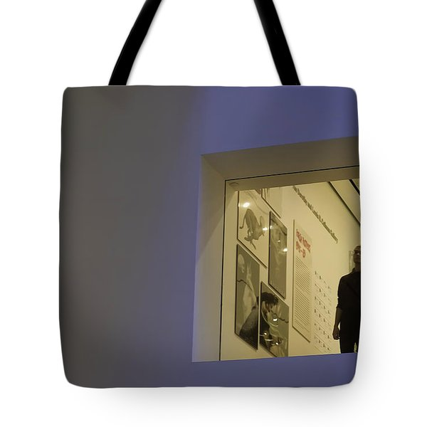 Him Trapped In Geometry Tote Bag by Joanna Madloch