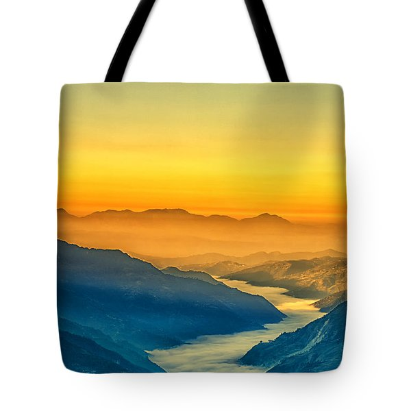 Himalaya In The Morning Light Tote Bag