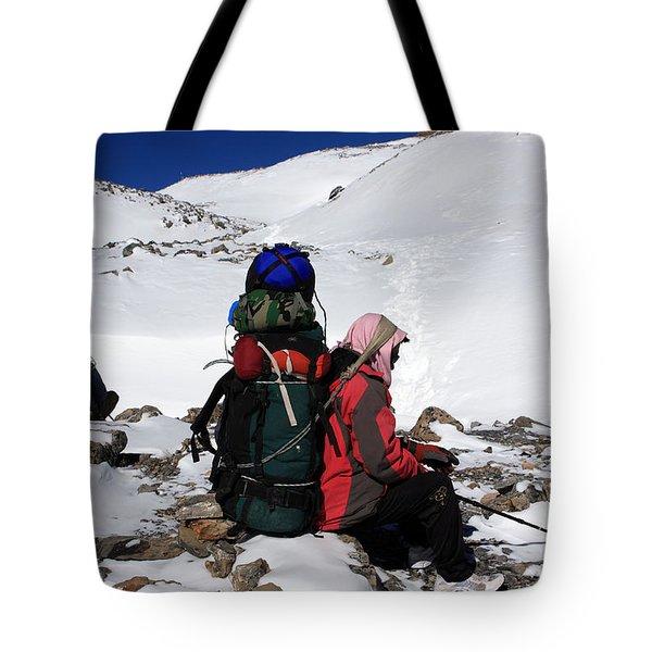 Himalayan Porter, Nepal Tote Bag
