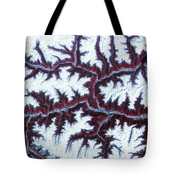 Himalayas Tote Bag by Adam Romanowicz