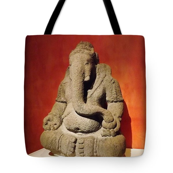 Hindu Statue God Ganesha Tote Bag