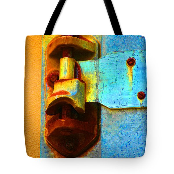 Tote Bag featuring the photograph Hinged  by Christiane Hellner-OBrien