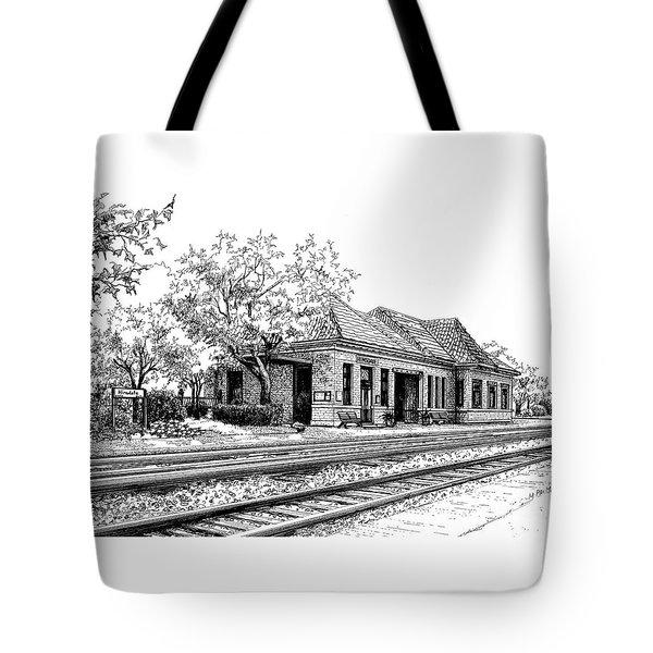 Hinsdale Train Station Tote Bag