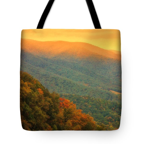 Hint Of Orange On The Blue Ridge Parkway Tote Bag