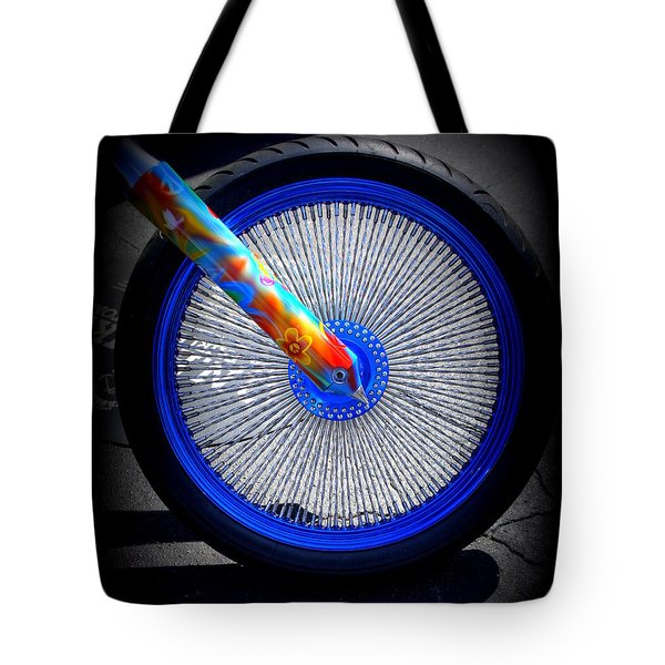 Tote Bag featuring the photograph Hippie Bike by Laurie Perry