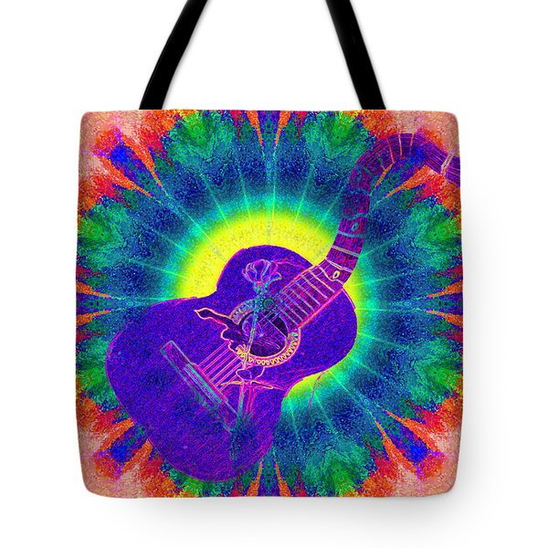 Hippie Guitar Tote Bag by Bill Cannon