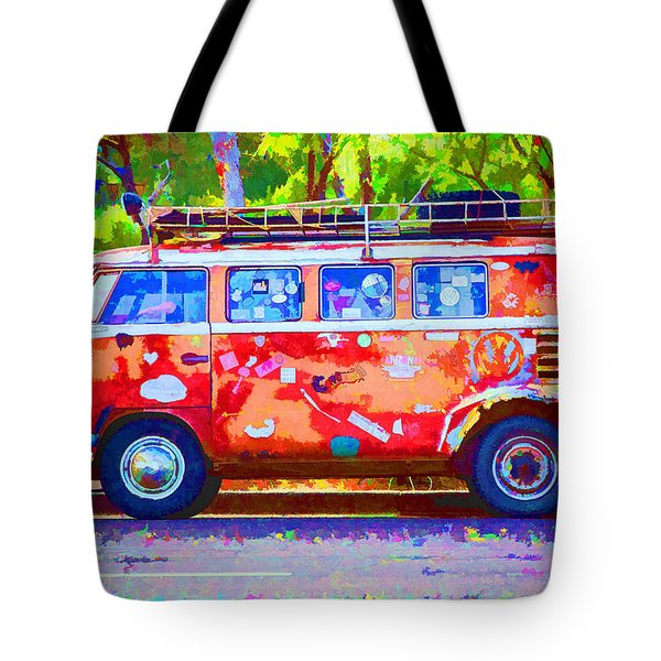 Tote Bag featuring the photograph Hippie Van by Jaki Miller