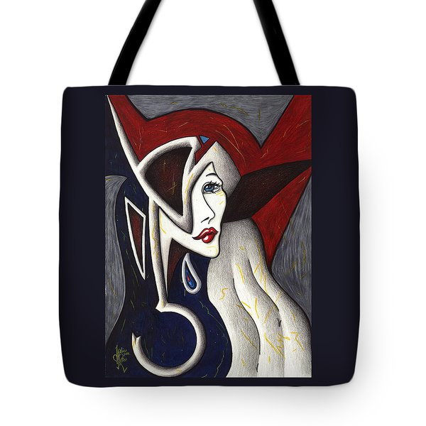 His Absence And Pain's Piercing Presence Tote Bag by Danielle R T Haney
