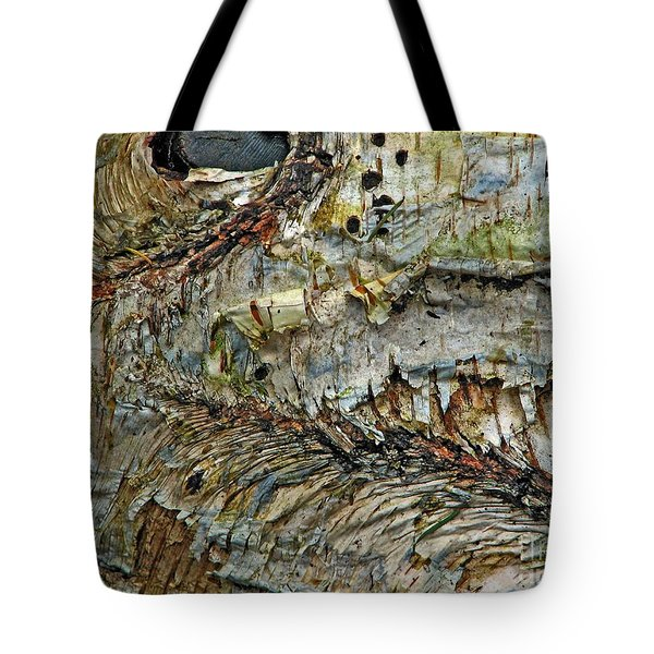 Tote Bag featuring the photograph His Bark Is Worse Than His Bite by Chris Anderson