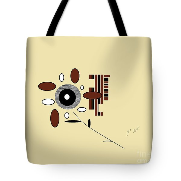 Tote Bag featuring the digital art His First Flower by Ann Calvo