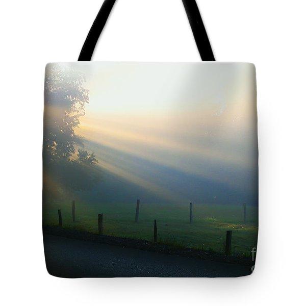 His Light II Tote Bag by Douglas Stucky