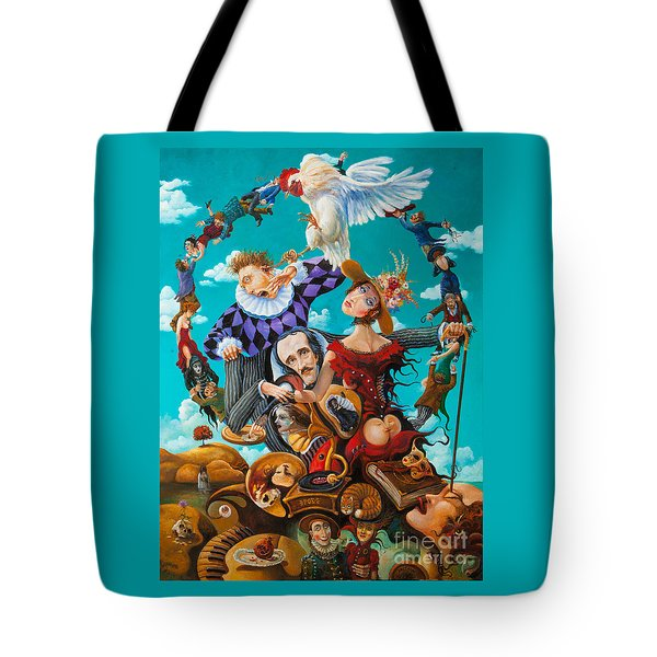 His Majesty Edgar Allan Poe Tote Bag by Igor Postash