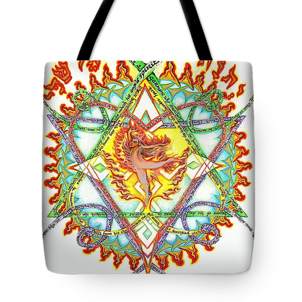 His Ministers A Flamming Fire Tote Bag by Hidden  Mountain