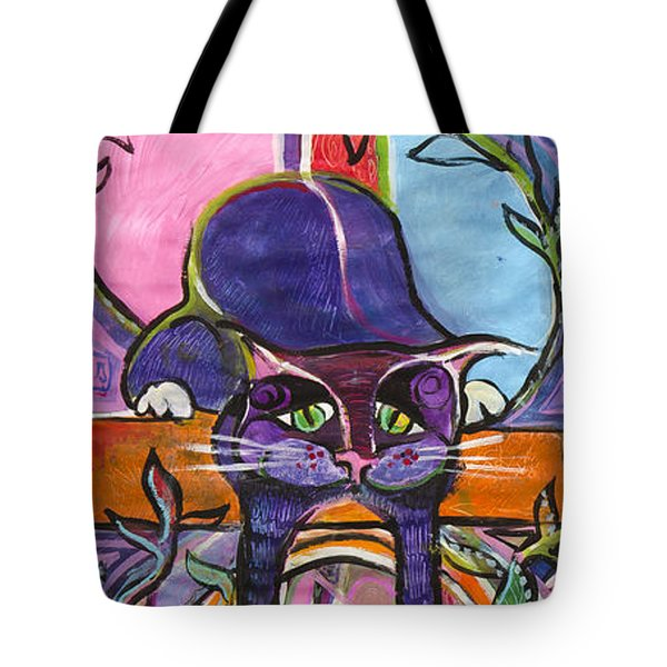 His Own World Tote Bag by Leela Payne