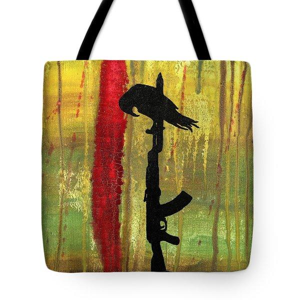 His Senseless Trial Of Strength Tote Bag by Jim Stark