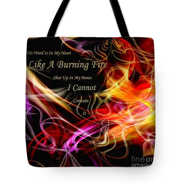 Tote Bag featuring the digital art His Word In My Heart by Margie Chapman