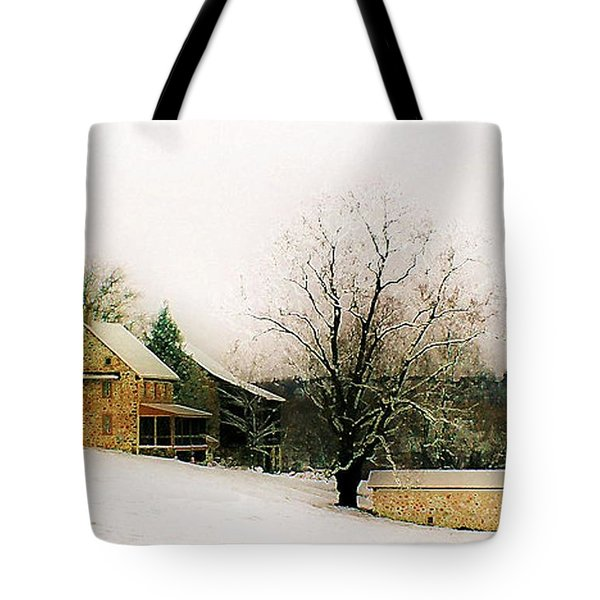Tote Bag featuring the photograph Historic 1700's Farmhouse by Polly Peacock