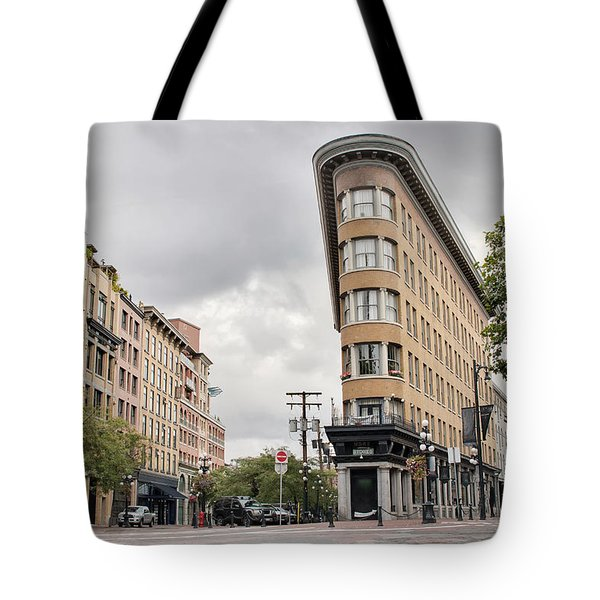 Historic Buildings In Gastown Vancouver Bc Tote Bag by David Gn