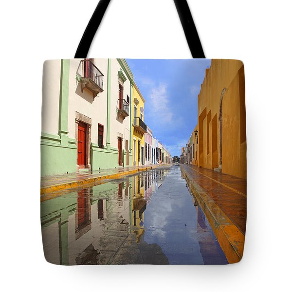 Tote Bag featuring the photograph Historic Campeche Mexico  by Susan Rovira