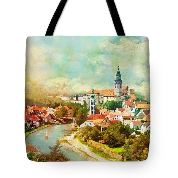 Historic Centre Of Cesky Krumlov Tote Bag by Catf