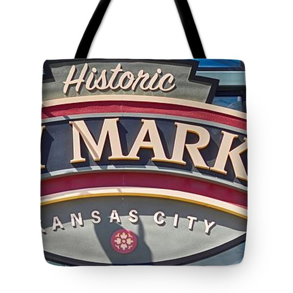Historic City Market Sign  Tote Bag by Liane Wright