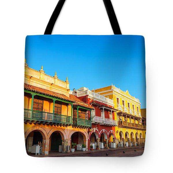 Historic Colonial Facades Tote Bag