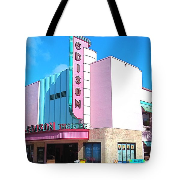 Deco Historic Edison Theater. Ft. Myers. Florida. Tote Bag