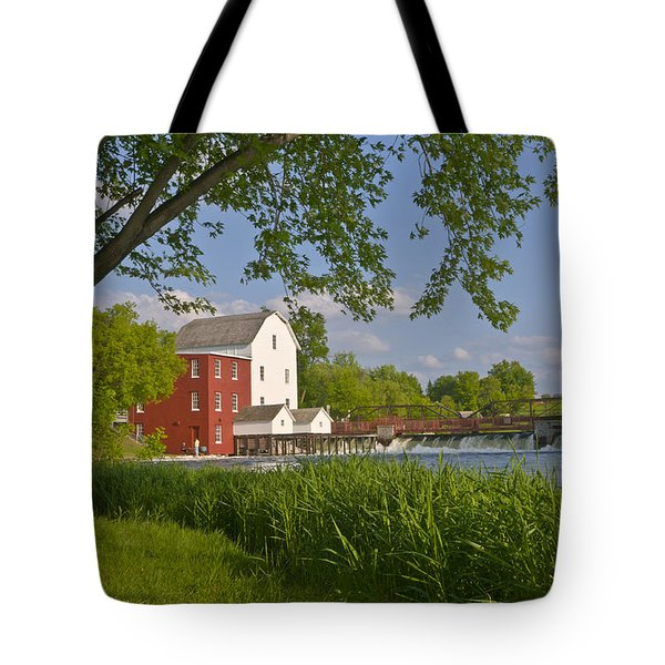 Historic Flour Mill By A River Tote Bag
