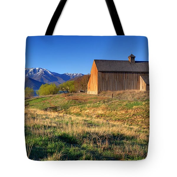 Historic Francis Tate Barn - Wasatch Mountains Tote Bag