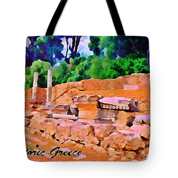 Historic Greece Tote Bag by John Malone