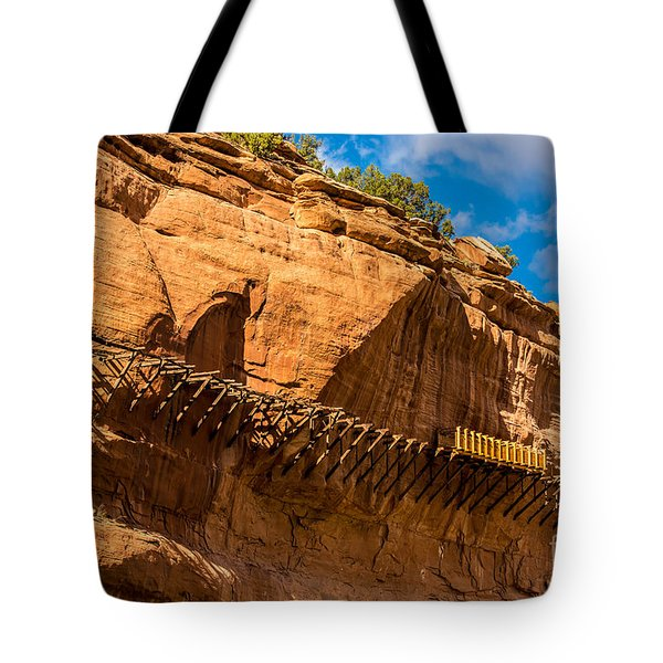 Historic Hanging Flume - Dolores River - Colorado Tote Bag