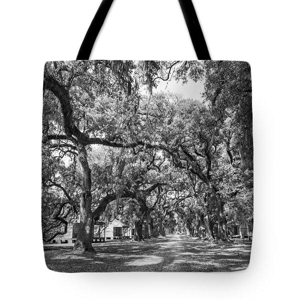 Historic Lane Bw Tote Bag by Steve Harrington