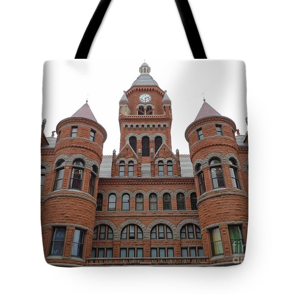 Tote Bag featuring the photograph Historic Old Red Courthouse Dallas #1 by Robert ONeil