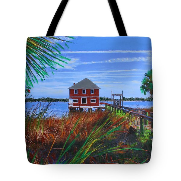 Historic Ormond Boathouse Tote Bag
