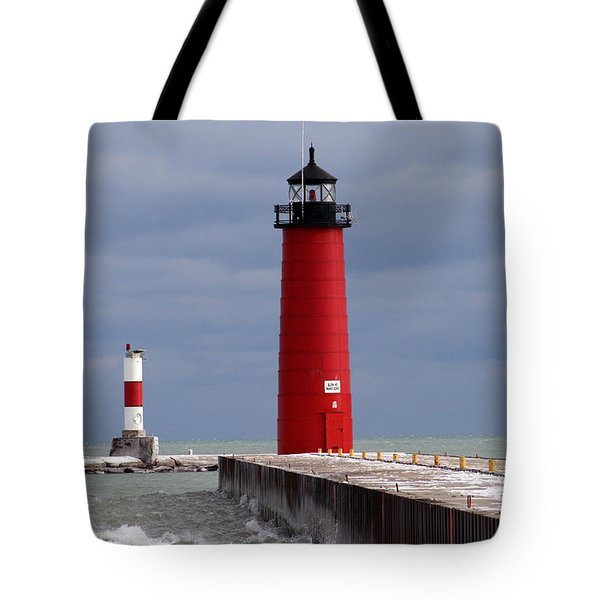 Tote Bag featuring the photograph Historic Pierhead Lighthouse by Kay Novy