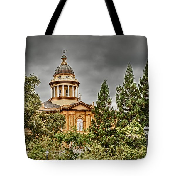 Tote Bag featuring the photograph Historic Placer County Courthouse by Jim Thompson