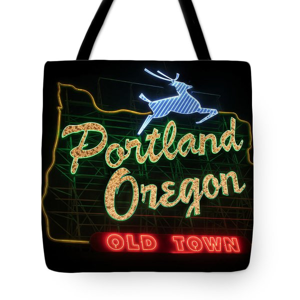 Historic Portland Oregon Old Town Sign Tote Bag