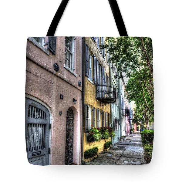 Historic Rainbow Row Tote Bag