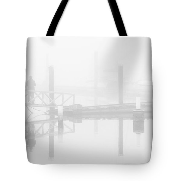Historic Stewart Farm In The Fog Tote Bag