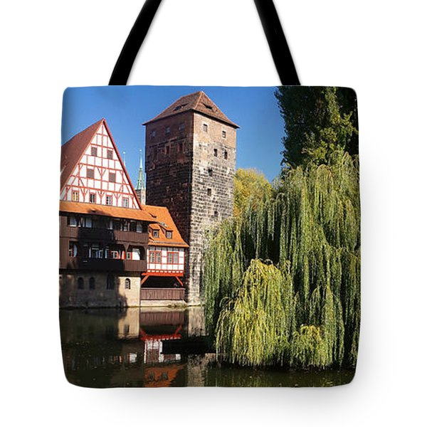 historic winestorage and executioner bridge in Nuremberg Tote Bag by Rudi Prott