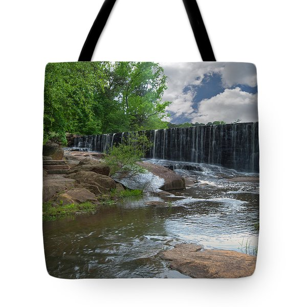 Historic Yates Mill Dam - Raleigh N C Tote Bag
