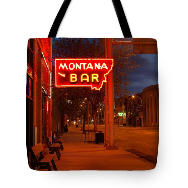 Historical Montana Bar Tote Bag