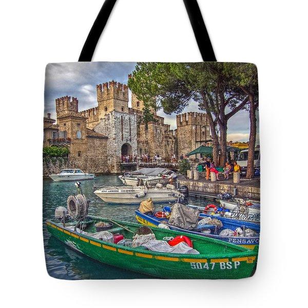 History At Lake Garda Tote Bag
