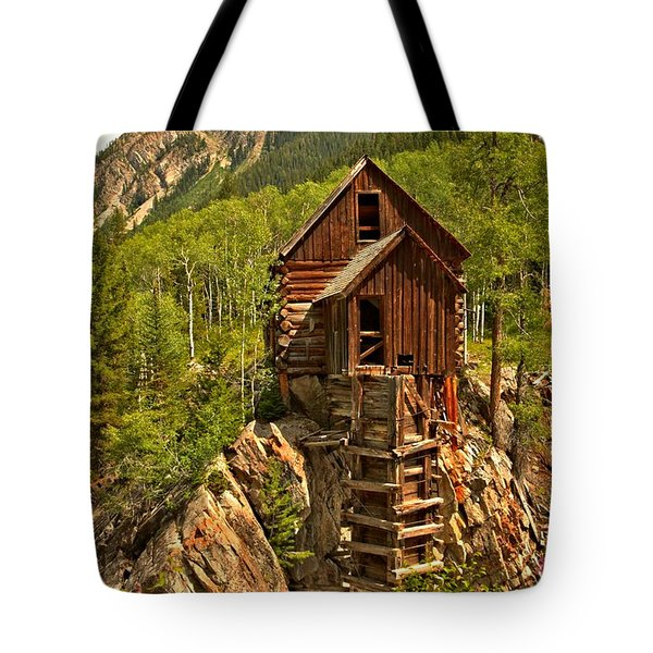 History In The Mountains Tote Bag by Adam Jewell